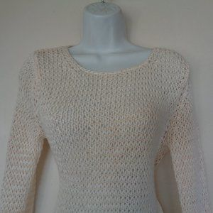 Loft Crochet White Sweater Medium